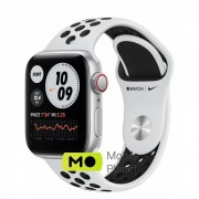 Apple Watch Nike SE (GPS Cellular) 40mm Silver Aluminum Case with Pure Platinum/Black Nike Sport Band (MYYR2/MYYW2)