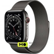 Apple Watch Series 6 (GPS Cellular) 44mm Graphite Stainless Steel Case with Graphite Milanese Loop (M07R3/M09J3)