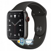 Apple Watch Series 5 (GPS Cellular) 40mm Titanium Case with Gray Sport Band (MWQE2)