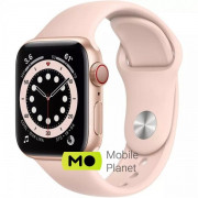 Apple Watch SE (GPS Cellular) 40mm Gold Aluminum Case with Pink Sand Sport Band (MYEA2/MYEH2)